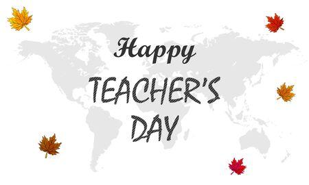 International teacher day, vector art illustration. Ilustração