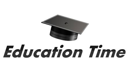 Education time logo, vector art illustration Imagens - 130982592