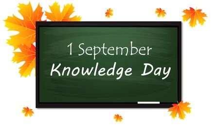 September 1 is the day of knowledge, vector art illustration. Imagens - 130982598