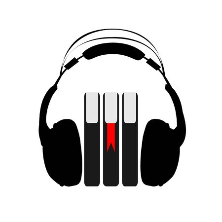 Audio book icon, vector art illustration.