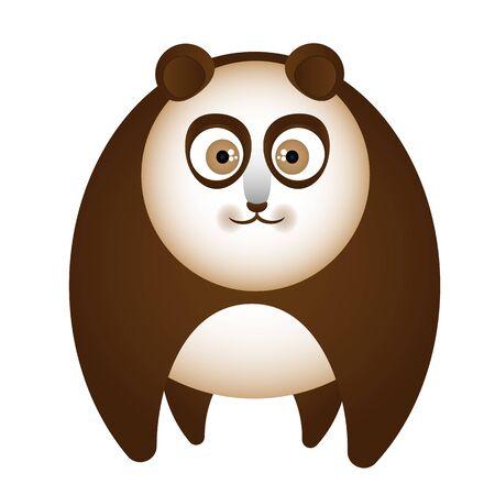 Cartoon brown bear, vector art illustration.