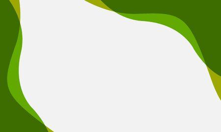 Wavy frame in green, vector art illustration.