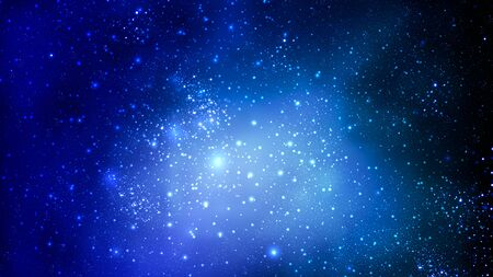 Abstract blue sky space, vector art illustration. Imagens - 130983065