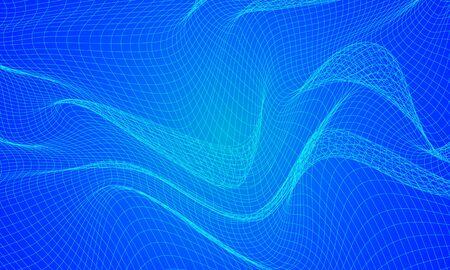 Abstract blue wavy Ilustração