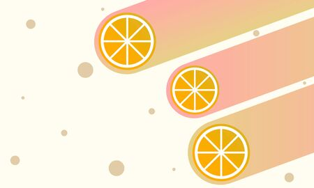 Abstract summer  with slices of orange, vector art illustration. Imagens - 130983066