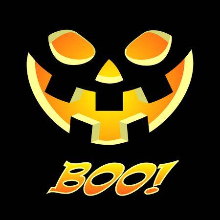 Halloween pumpkin banner, vector art illustration. Imagens - 130983459