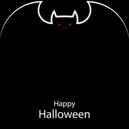 Bat halloween poster, vector art illustration.
