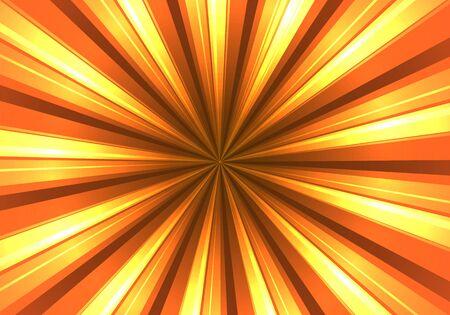 Abstract orange radiant background, vector art illustration. Illusztráció
