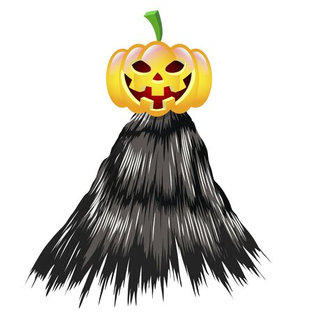 Halloween pumpkin with a cloak, vector art illustration. Ilustrace