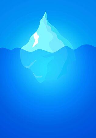 Tip of the iceberg, vector art illustration.