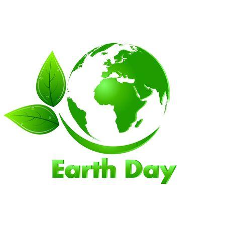 Earth Day Earth , vector art illustration. Ilustración de vector