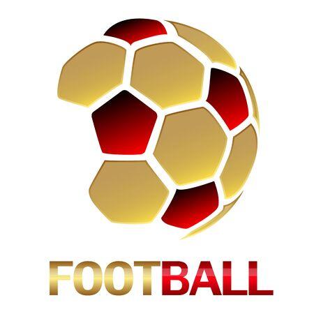 Hexagon soccer ball vector art illustration.