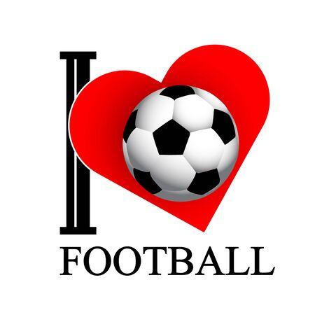 I love football, vector art illustration.