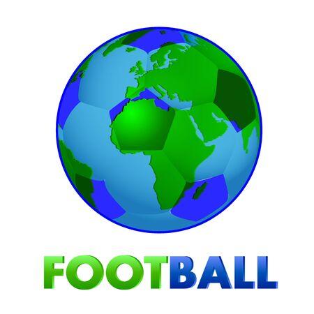 World Football Day, vector art illustration sport.