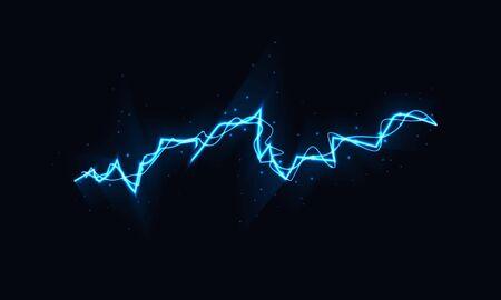 Abstract sparkling lightning, vector art illustration. Ilustración de vector