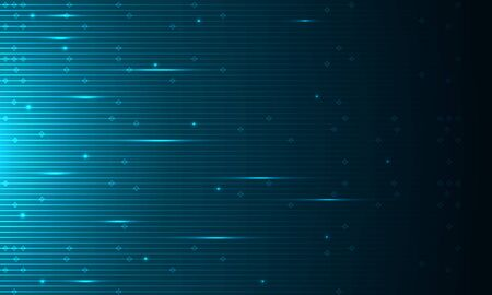 Smooth lines technological background in dark blue, vector art illustration.