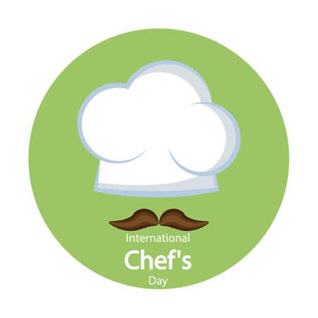International Chefs Day, vector art illustration.