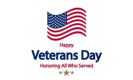 Happy Veterans Day USA, vector art illustration.