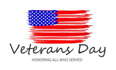 USA veterans day, vector art illustration.