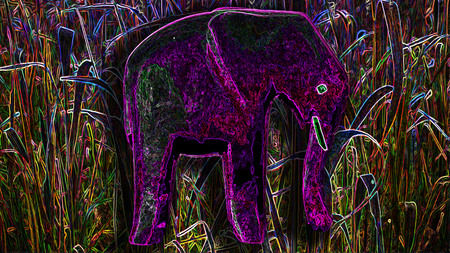 Elefanten, Dschungel, Figur figuren Hintergrund pink Holz