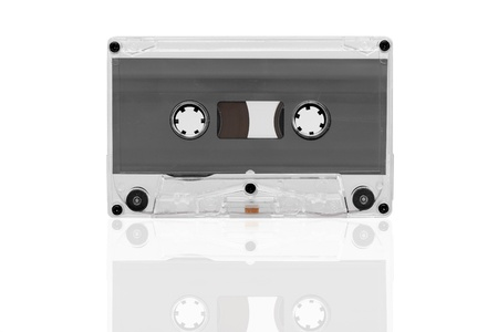 Old tape cassette isolated, dusty and grunge Stock Photo - 12867203