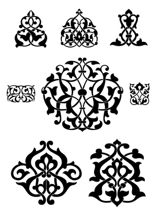 Arabesque vector collection for design Illustration