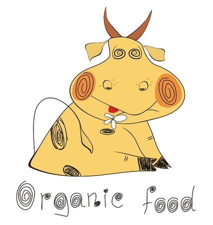 Organic ecological set.Organic food Illustration