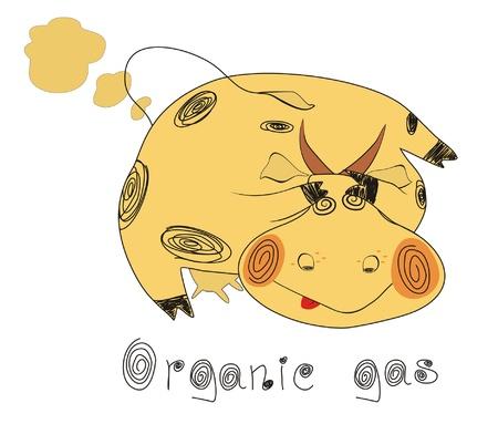 Organic ecological set.Organic gas