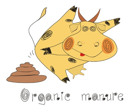 Organic ecological set.Organic manure Illustration