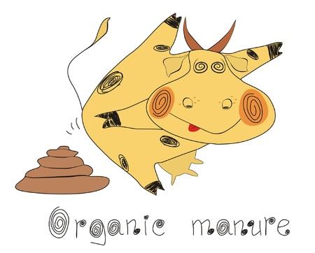 manure: Organic ecological set.Organic manure Illustration