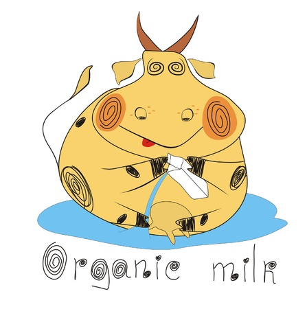 Organic ecological set.Organic milk