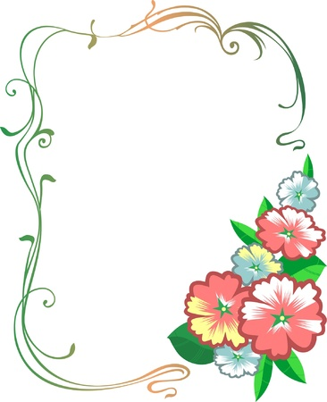 Floral decorative frame Vector