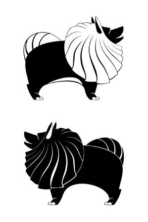 spitz: Vector dog silhouettes for design Illustration