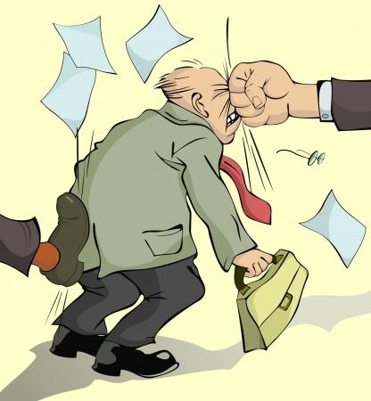 Un Homme Reçoit Un Coup De Pied Dans Le Cul Clip Art Libres De Droits ,  Vecteurs Et Illustration. Image 39990260.