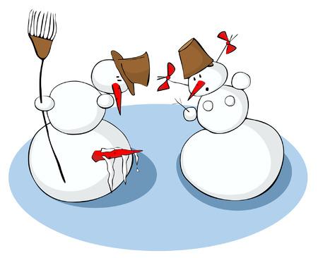 pene: Snowmans pene se ha congelado