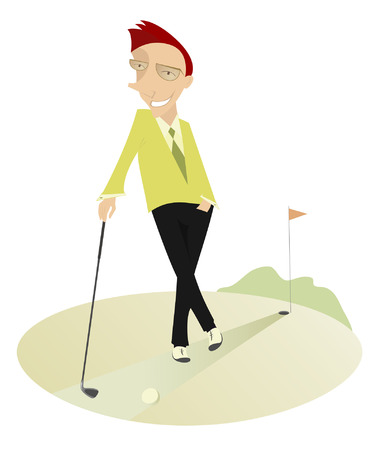 Good day for playing golf Vector
