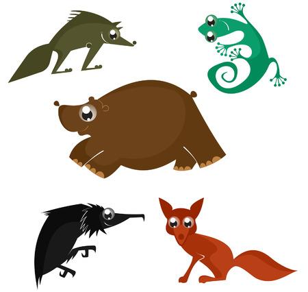 funny animal: Animales divertidos de la historieta fijados