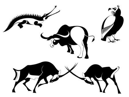 Vector original art animal silhouettes collection Vector