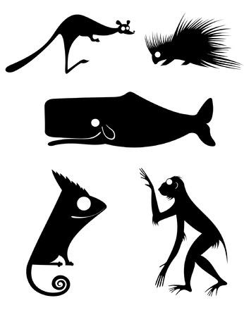Vector original art animal silhouettes collection for design 9 Vector