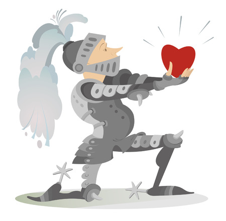 fiancee: Knight gives the heart to his fiancee
