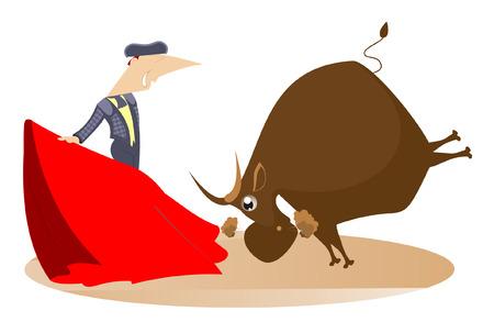 bullfighter: Bullfighter and a bull