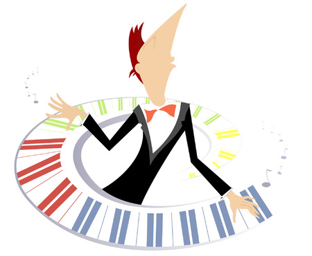 pianist: Pianist is playing music with inspiration