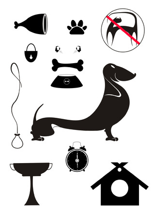 breeding: Dog breeding objects collection for design