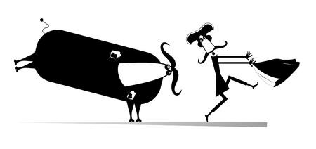 corrida de toros: Corrida. Bull persigue el torero