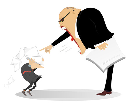 dismissal: Angry boss.  Angry chief scolds his employee