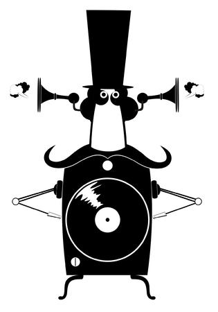 lp: Funny jukebox. Jukebox cartoon illustration