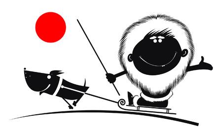 eskimo dog: Northman rides on the sled dog