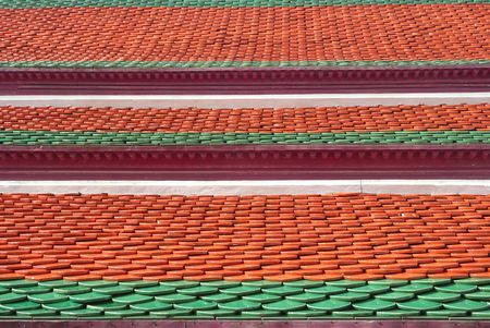 Clay roof tiles Thai photo