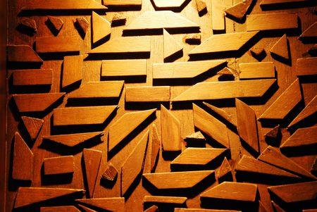 Light on wood background photo