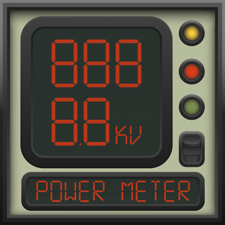 ammeter: The user interface of the device - a power meter, ammeter, voltmeter and other units of measurement Illustration